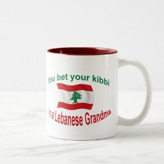 Lebanese Grandma - Bet Your Kibbi Two-Tone Coffee Mug