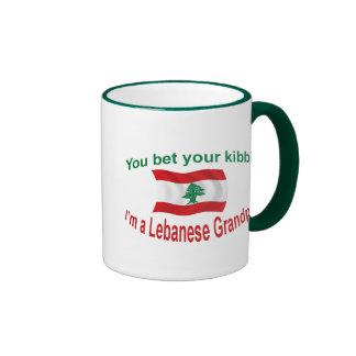 Lebanese Grandpa - Bet Your Kibbi Ringer Mug
