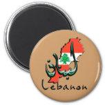 Lebanon 3D bilingual Magnet