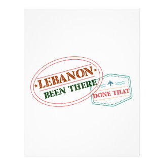 Lebanon Been There Done That Letterhead