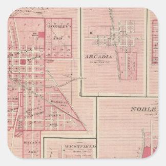 Lebanon, Boone Co with Arcadia, Zionsville Square Sticker