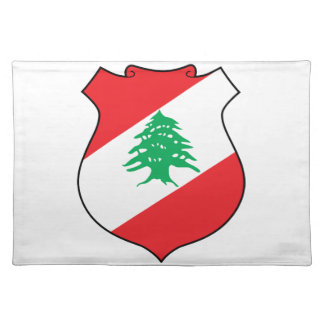 Lebanon Coat Of Arms Cloth Placemat