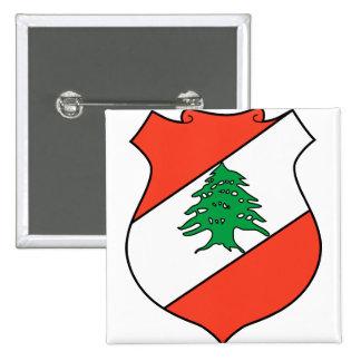Lebanon Coat of Arms detail Pinback Button