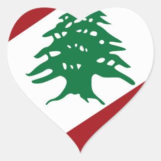 Lebanon Coat of Arms Heart Sticker
