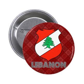 Lebanon Coat of Arms Pinback Button