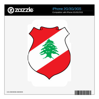 Lebanon Coat Of Arms Skin For iPhone 3G
