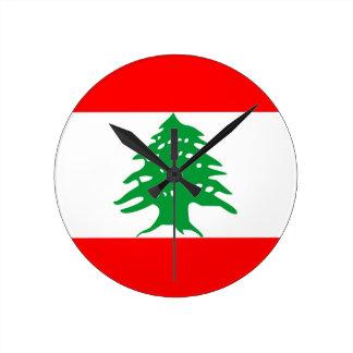 lebanon country flag clock