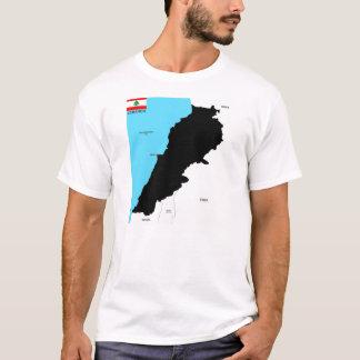lebanon country political map flag T-Shirt