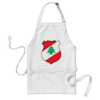 lebanon emblem adult apron