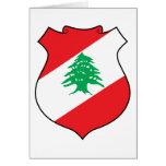 lebanon emblem card