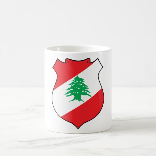 lebanon emblem coffee mug
