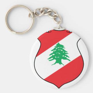 lebanon emblem basic round button keychain