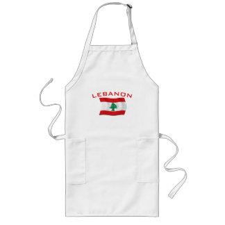 Lebanon Flag Long Apron
