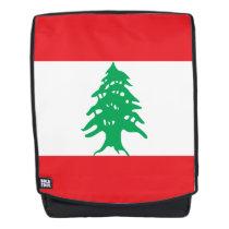 Lebanon Flag Backpack