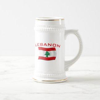 Lebanon Flag Beer Stein