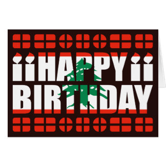 Lebanon Flag Birthday Card