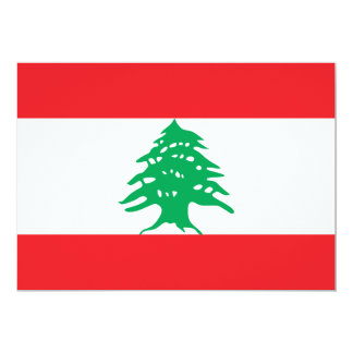 Lebanon Flag Card