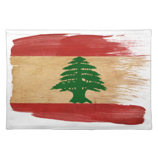 Lebanon Flag Cloth Placemat