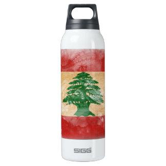 Lebanon Flag Insulated Water Bottle