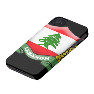 Lebanon Flag iPhone 4/4S Case-Mate Barely There iPhone 4 Covers