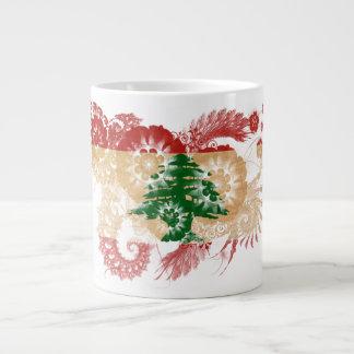 Lebanon Flag Large Coffee Mug