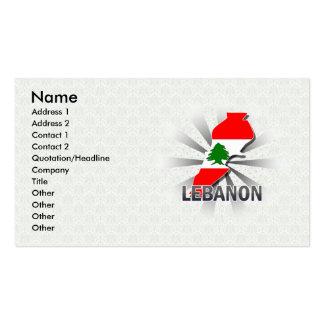 Lebanon Flag Map 2.0 Business Card Templates