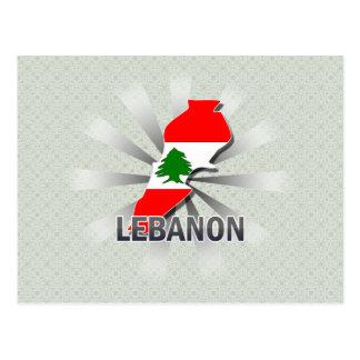 Lebanon Flag Map 2.0 Post Cards