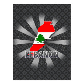 Lebanon Flag Map 2.0 Post Card