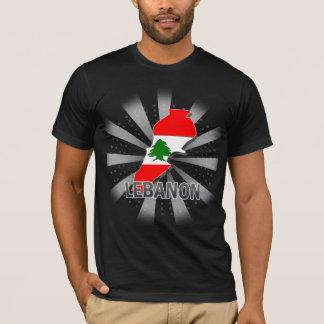 Lebanon Flag Map 2.0 T-Shirt