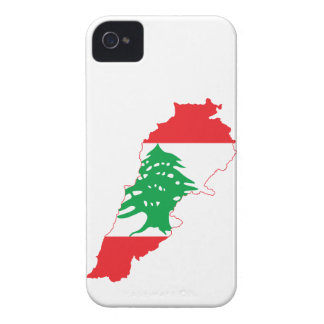Lebanon Flag Map Case-Mate iPhone 4 Cases