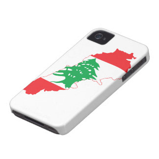 Lebanon Flag Map iPhone 4 Covers