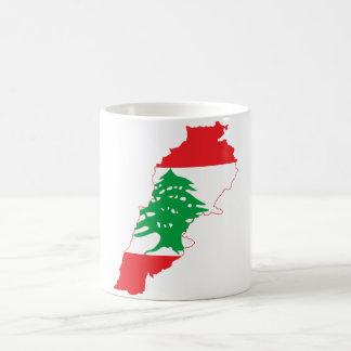 Lebanon Flag Map Coffee Mug