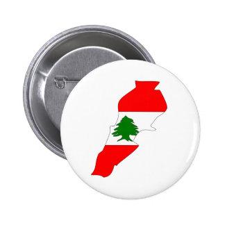 Lebanon Flag Map full size Button