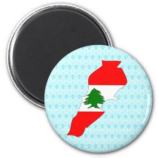 Lebanon Flag Map full size Fridge Magnets