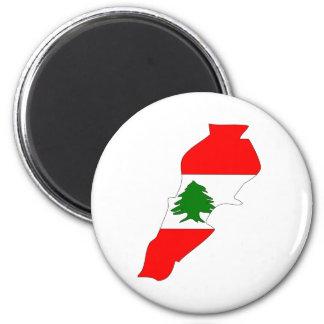 Lebanon Flag Map full size Magnets