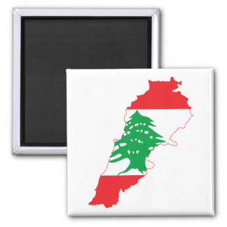 Lebanon Flag Map Refrigerator Magnet