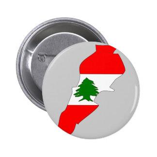 Lebanon flag map pinback button