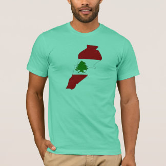 Lebanon flag map T-Shirt
