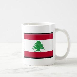 Lebanon Flag Classic White Coffee Mug
