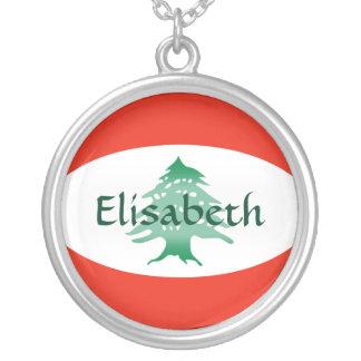 Lebanon Flag + Name Necklace