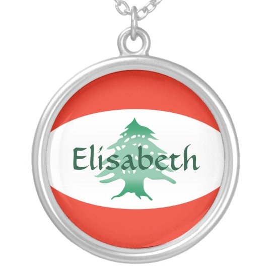 Lebanon Flag + Name Necklace