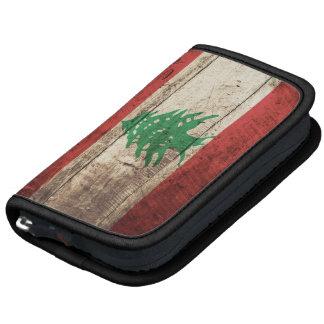 Lebanon Flag on Old Wood Grain Planner