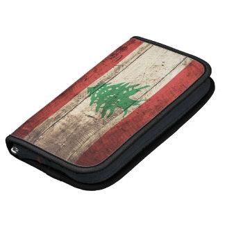 Lebanon Flag on Old Wood Grain Organizer