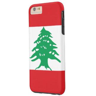 Lebanon Flag Tough iPhone 6 Plus Case