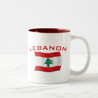 Lebanon Flag Two-Tone Coffee Mug