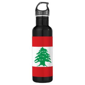 Lebanon Flag Water Bottle