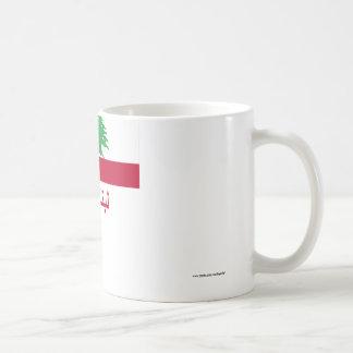 Lebanon Flag with Name in Arabic Coffee Mug