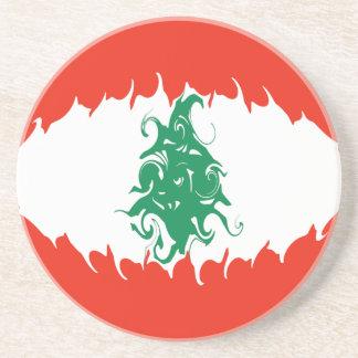 Lebanon Gnarly Flag Drink Coaster