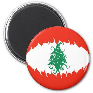Lebanon Gnarly Flag Magnet