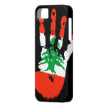 Lebanon Handprint iPhone 5 Cover iPhone 5 Cases